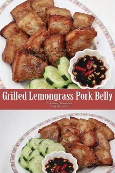 Vietnamese Grilled Lemongrass Pork Belly – Famous Last Words Pork Recipes, Asian Recipes, Cooking Recipes, Healthy Recipes, Healthy Vietnamese Recipes, Asian Pork Belly Recipes, Korean Pork Belly, Vegetarian Recipes, Vietnamese Grilled Pork