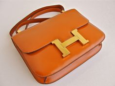 VTG HERMES 23CM CONSTANCE BAG Orange color Rare & Collectible 100% Authentic   eBay