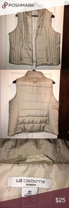 Liz Claiborne Vest Plus Size 3X Gently worn Liz Claiborne Vest Plus Size 3X Liz Claiborne Jackets & Coats Vests