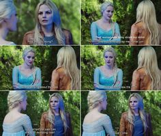 """I've learned the past has a way of revealing itself. Give it time."" Emma and Elsa - 4 * 3 ""Rocky Road."" #FrozenSwan"