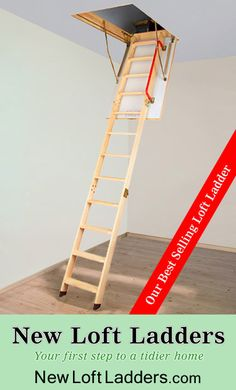 our best selling ladder is the folding loft ladder made from fsc certified pinewood timber