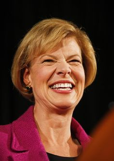Tammy Baldwin made history election day 2012 as the first openly gay candidate elected to the Senate -- and she's the first woman to represent Wisconsin, to boot! (Photo: AP/Andy Manis)