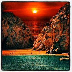 Sunset at Cabo San Lucas Beach, Mexico. #sunset #sanlucas #beach #méxico #photooftheday #picoftheday by pep__80, via Flickr - the colors might have been enhanced, but they are so gorgeous