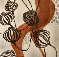 Sandra Cardillo, MA, USA woodcut and monoprint Art And Illustration, Linocut Prints, Art Prints, Block Prints, Framed Prints, Contemporary Printmaking, Art Design, Art Journals, Oeuvre D'art