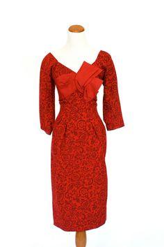 60's Vinage Dress Wiggle Dress Red Dress by pinebrookvintage, $75.00  NEW!!! Sexy 1960s wiggle dress. Oooh La La!!!