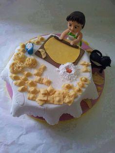 pastel pensado para una dama que ama la cocina.