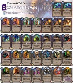 Unfortunately Warlock seems to be stuck between Zoo and Renolock and nothing special is happening for the class. This is the latest Asia-Pac Championships list. #Hearthstone