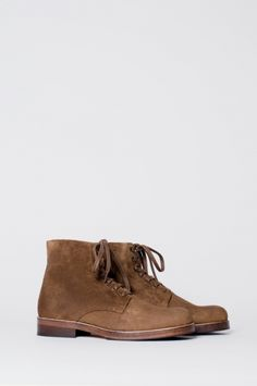 Our Legacy - Discovery Boot Oak Suede  I'm going to need a pair of boots like these come winter.