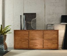 FGF Mobili Bold Sideboard Parawood Massivholz Solid Wood Design Made in Italy