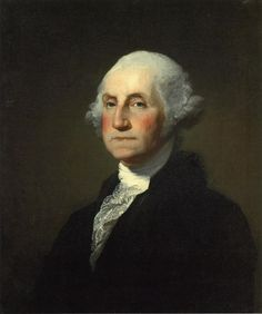 Photo File:Gilbert Stuart Williamstown Portrait of George Washington  artist Creator:Gilbert Stuart the materials used is oil on canvas, this picture was painted in 1846