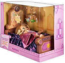 Disney Animators' Collection Princess Baby Doll Rapunzel with Crib Gift Set