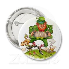 Happy St. Patrick's Day Pinback Buttons