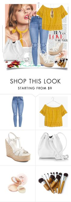 """Bez naslova #117"" by miki-383 ❤ liked on Polyvore featuring Madewell, Yves Saint Laurent, Lancaster and Skinfood"