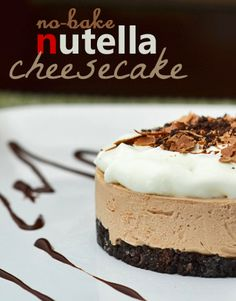 This is a simple No Bake Nutella Cheesecake Recipe. If you love Nutella and you … This is a simple No Bake Nutella Cheesecake Recipe. If you love Nutella and you love cheesecake, you MUST try this simple & easy recipe everyone will love! No Bake Desserts, Just Desserts, Delicious Desserts, Dessert Recipes, Yummy Food, No Bake Nutella Cheesecake, Cheesecake Recipes, Nutella Cookies, Nutella Cake