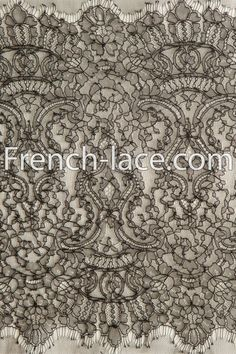Black Chantilly narrow lace, very thin and flowy. One of our favorite laces in the store. Classic and timeless!