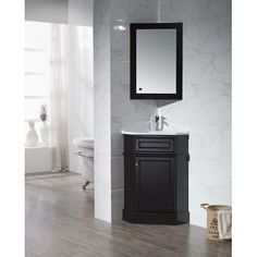 Project Source Bathroom Vanity Jav Euro 24 In With Vitreous China Top And Integrated Sink Products Pinterest Vanities