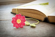 Handmade Flower Bookmark Pink Primrose Flower