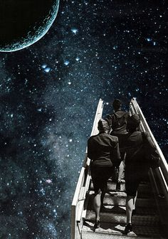 Le voyage, 1998. Collage papier de Zophie Zyphon