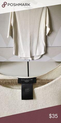Ann Taylor cream sweater tot XXSP NWOT Ann Taylor Sweaters Crew & Scoop Necks