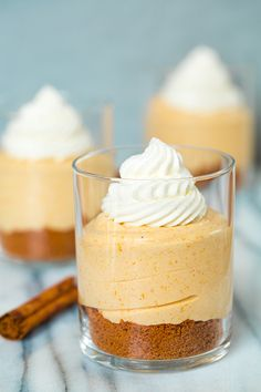 No Bake Biscoff cookies Pumpkin Cheesecakes with Salted Caramel Sauce