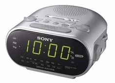 Easy and practical, the radio alarm clock from Sony includes an analogue FM/PO tuner to entertain you or wake you up to music. Equipped with snooze and calendar functions, the will automatically adjust to summer or winter time thanks to the DST button. Digital Radio, Digital Alarm Clock, Radios, Sony Electronics, Radio Alarm Clock, Dream Machine, Led, Winter Time, Calendar