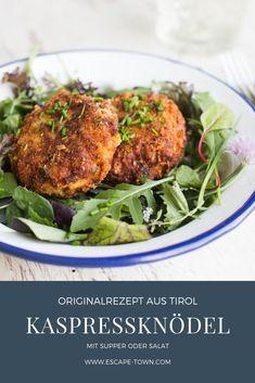 The best recipe Original Tyrolean cheese dumplings - Essen und Trinkenn Easy Soup Recipes, Easy Healthy Recipes, Easy Meals, Austrian Recipes, Hungarian Recipes, Hungarian Food, German Recipes, Healthy Comfort Food, Healthy Eating
