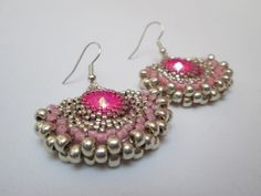 Pierina Earrings Tutorial PDF Pattern Beaded by cutelulu on Etsy