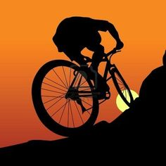Bike Silhouette, Bike Logo, Bike Tattoos, Sports Images, Bike Storage, Bike Rack, Cycling Art, Dark Souls, Vinyl Projects