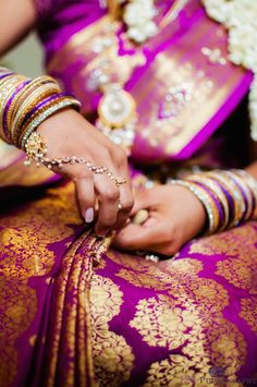 Indian Bride: sari and jewellery