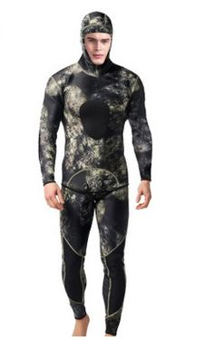 3MM Neoprene Spearfishing Surfing Jumpsuit Equipment Men Professional Two Piece  Wetsuit Diving Suit Split Scuba Snorkel e230a8f37