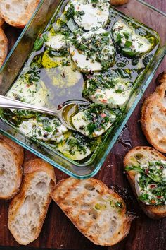 MMMMMM Herbed Goat Cheese on grilled bread!!! I love when appetizers turn into snack dinners! http://www.shutterbean.com/2017/herbed-goat-cheese/