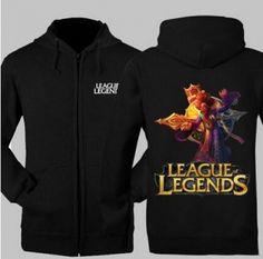 Zilean League of Legends zip hoodie for men fleece sweatshirt XXXL
