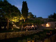 Dinner in the garden under the pergola
