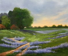 Trail of Purple - Julie Peterson Oil Paintings (East Wenatchee, WA)