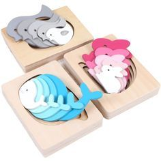 Montessori Materials Wooden Sensorial Educational Toys For Children Cute Animals Multilayer Puzzle Montessori Wood Puzzle Montessori Materials, Montessori Toys, Toddler Toys, Kids Toys, 3d Laser Printer, Wooden Truck, Puzzle Toys, Wooden Puzzles, Learning Toys