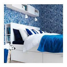 BRIMNES Sängynrunko, jossa laatikot - 160x200 cm - IKEA