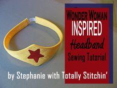 Wonder Woman Inspired Headband and Cuffs Tutorial