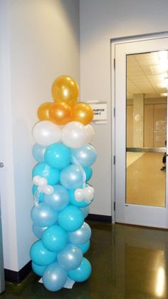 Baby Bottle Balloon Column and Arch DIY Kit party decoration by CelebratetheDayparty on Etsy
