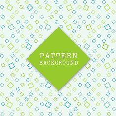 Nice green and blue geometric pattern Free Vector