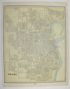 Antique Map Omaha Nebraska, Council Bluffs Iowa Map 1894 City Street Map, Collectable Map, Wedding Decor Prop, Wall Map, Art Map to Frame by OldMapsandPrints on Etsy