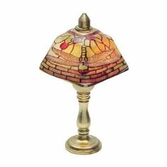 1:12 Dollhouse Miniature Colored Shade Working Table Lamp Desk Reading Light 12V