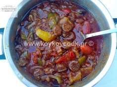 Greek Spetzofai Curry, Greek, Meat, Ethnic Recipes, Food, Curries, Essen, Meals, Greece