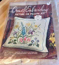 Extremely rare Elsa Williams Spring Flowers Crewel Embroidery Kit #KC339 Collectible Needle Arts Wool Belgian Linen  FREE SHIPPING by EclecticCactusStudio on Etsy https://www.etsy.com/listing/220525829/extremely-rare-elsa-williams-spring