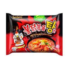 Buy Samyang's stew type Hot Chicken flavoured Korean spicy Ramen noodles (Stew Type) Online from Asia Market. Spicy Ramen Noodles, Asian Noodles, Soba Noodles, Hot Ramen, Red Foods, Chicken Flavors, Twist Headband, Jelly Beans, Korean Food