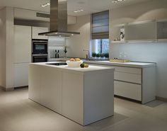 bulthaup b1 kitchen in Alpine white with Siemens appliances.