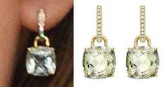 November 8, 2014 - Kate wore her Kiki McDonough earrings.  She chose the green amethyst pair.  Splash/Kiki McDonough