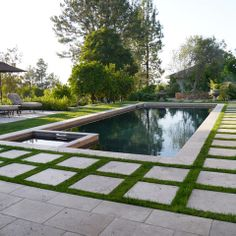 Pavers With Grass Design Ideas, Pictures, Remodel and Decor