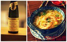 accord mets et vins pour le nouvel an chinois! #vin #Alsace #Weinbach #pinotgris #soupe #crevette