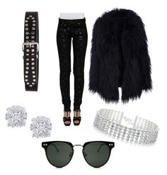 """""""Dark Angel"""" by jordie3marie on Polyvore featuring Yves Saint Laurent, Red Herring, Effy Jewelry and Spitfire"""