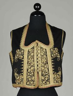 Jacket, fourth quarter 19th century. Probably Albanian. The Metropolitan Museum of Art, New York. Brooklyn Museum Costume Collection at The Metropolitan Museum of Art, Gift of the Brooklyn Museum, 2009; Brooklyn Museum Collection, 1934 (2009.300.6433)
